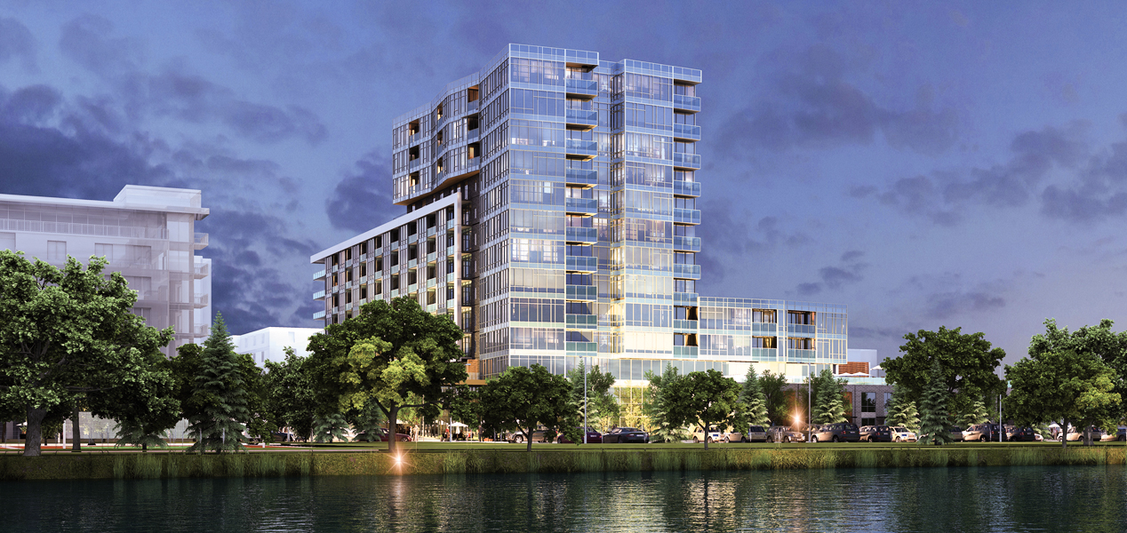 Lakehouse condominiums and rowhomes on Sloan's Lake