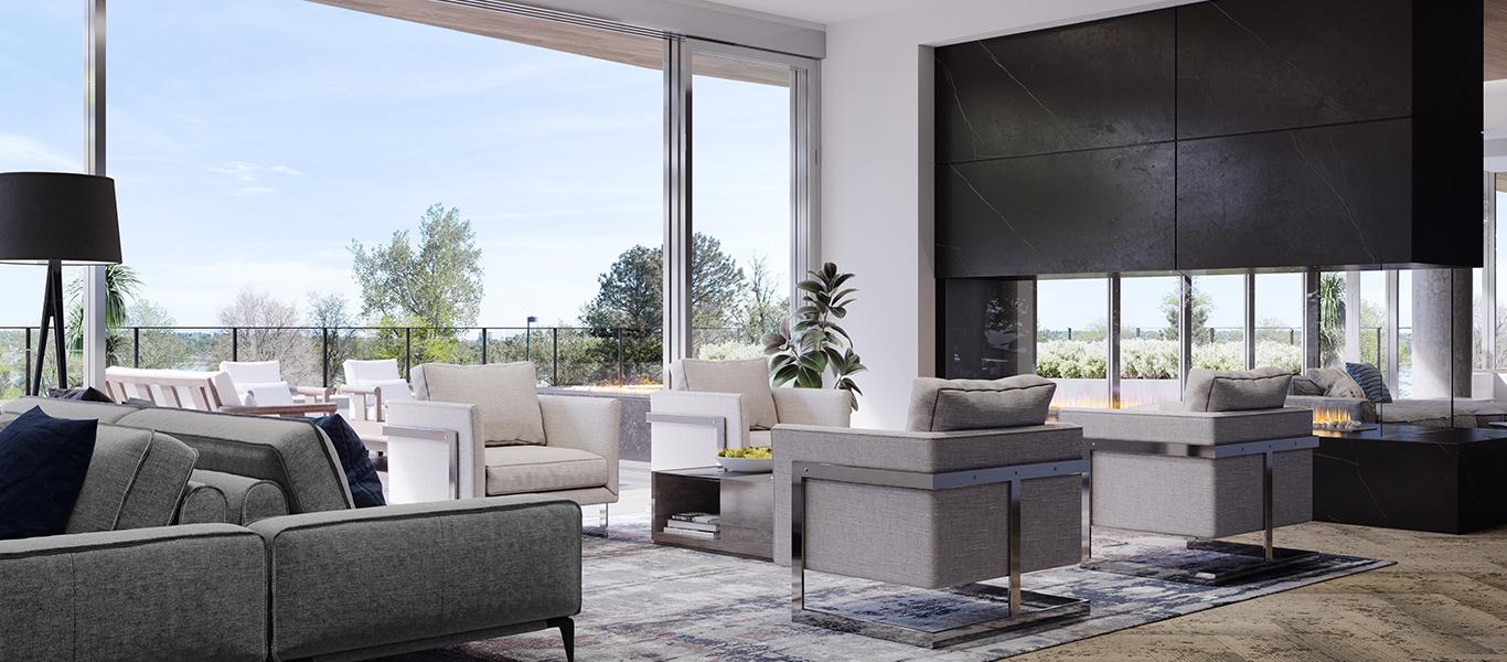 Lakehouse Denver condo indoor space